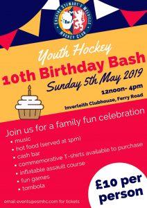 ESM Hockey Club's 10th Birthday Bash on Sunday 5 May 2019
