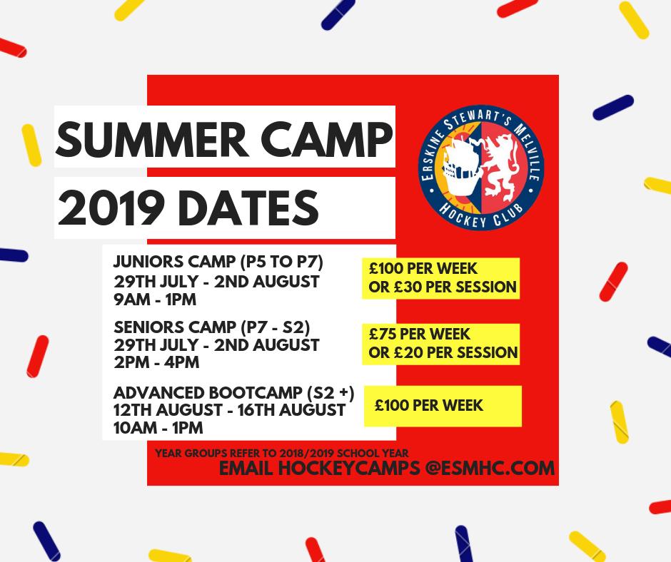 ESM HC Summer Camp dates poster