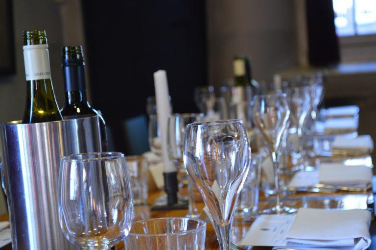 Dinner table set