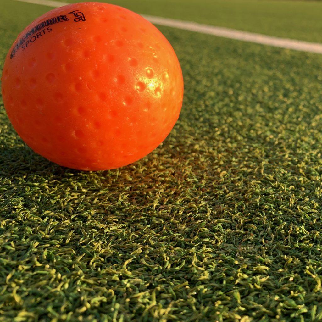 Hockey ball in the Edinburgh sun