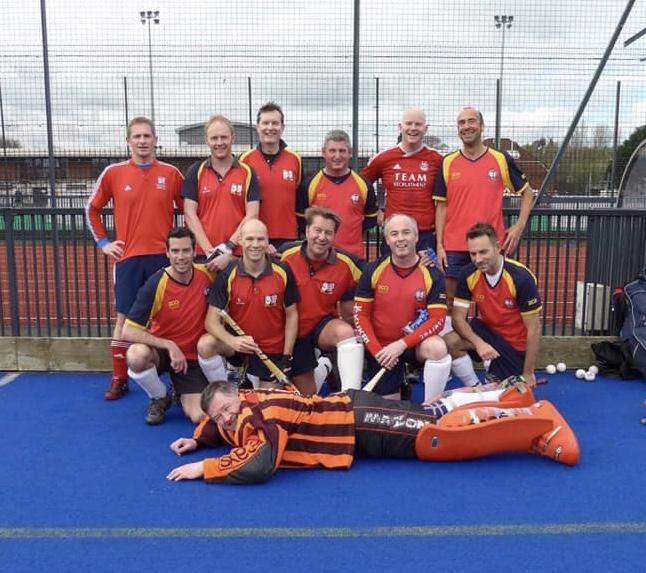 ESM Hockey Club Vet's team, playing in Edinburgh