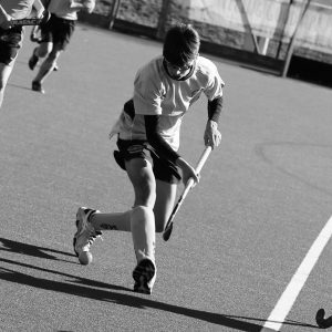 ESM Hockey Club youth player representing East of Scotland in Edinburgh