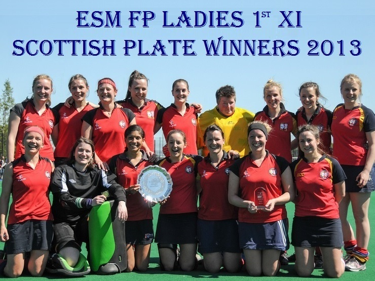 Ladies 1st XI Scottish Plate Winners 2013