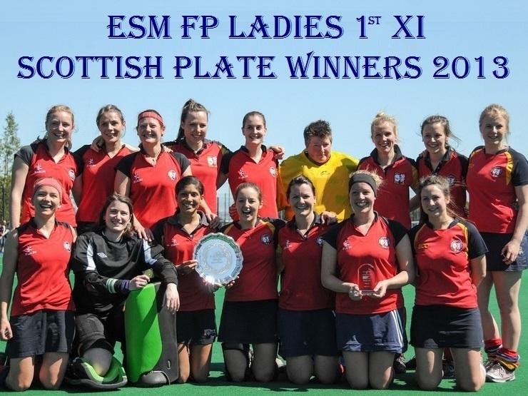 Ladies 1st XI Scottish Plate Winners 2013