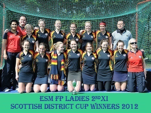 Ladies 2nd XI Scottish District Cup Winners 2012