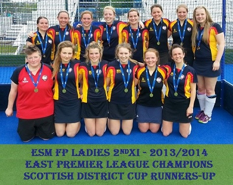 Ladies 2nd XI East Premier League Champions & Scottish District Cup Runners-up