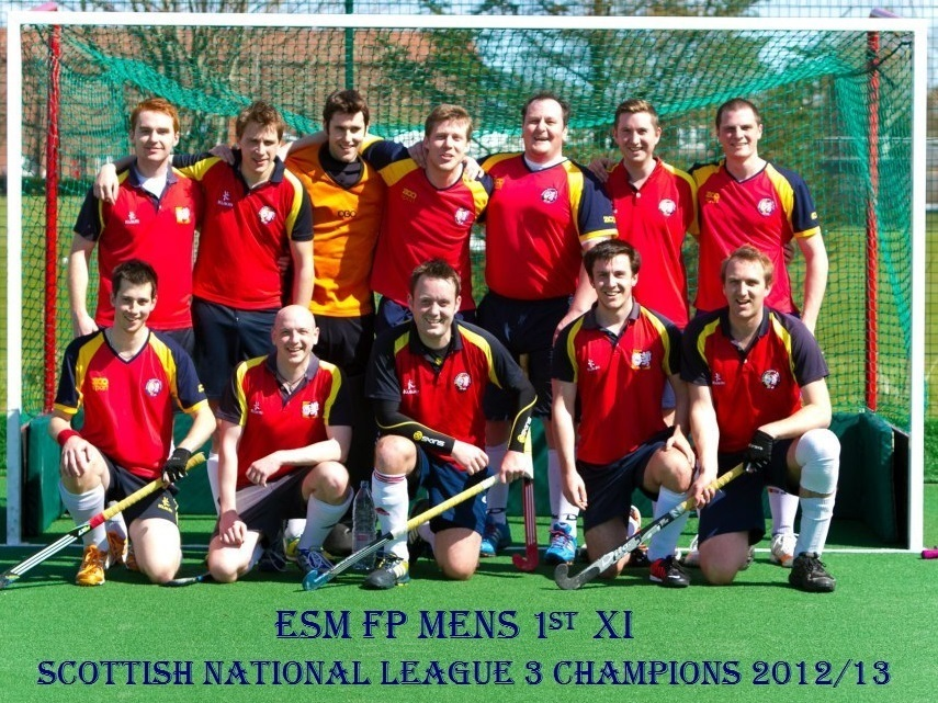Men's 1st XI Scottish National League Champions 2012/13