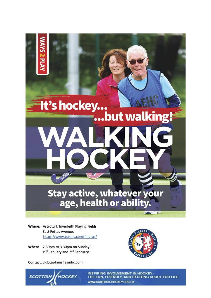 Walking hockey in Edinburgh for Men & Women