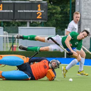 ESM Hockey Club's goalkeeping coach Dave Mitchell